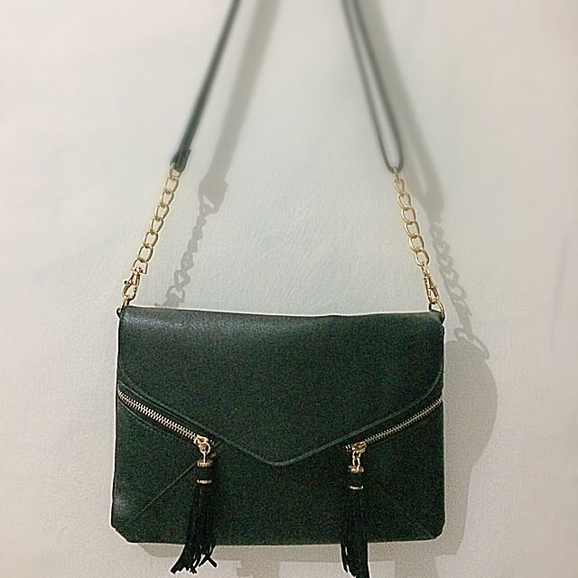 Black Envelope Sling Bag