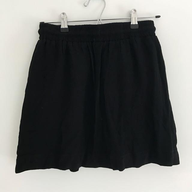 Black Huffer Skirt