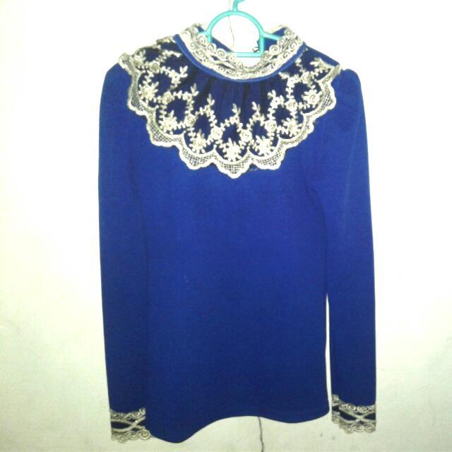 Blue Brukat