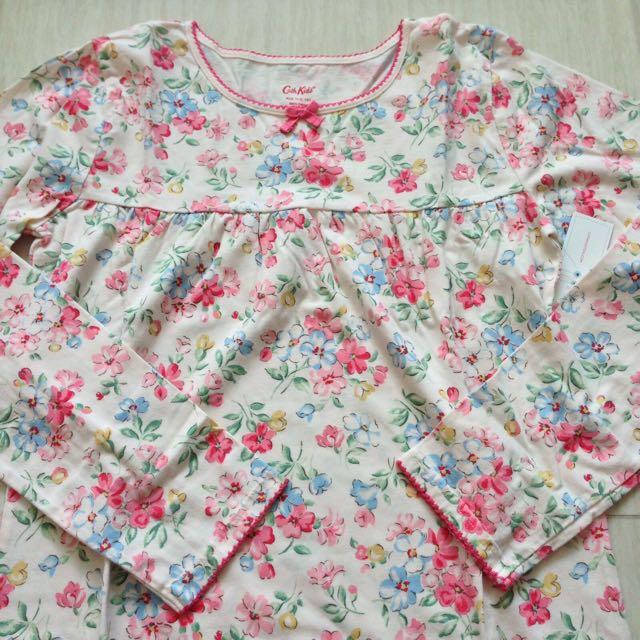 BNWT Cath Kidston Posy Flowers Kids Jersey Nightie (Ivory)