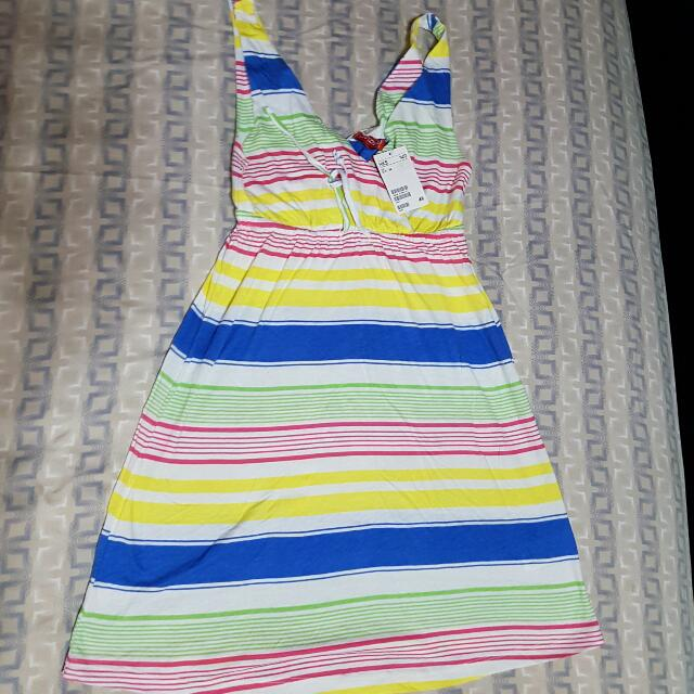 BRAND NEW! H&M DIVIDED COLORFUL STRIPE DRESS