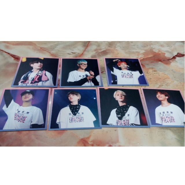 Bts live on stage epilogue dvd 2016 photo card unofficial duplicate