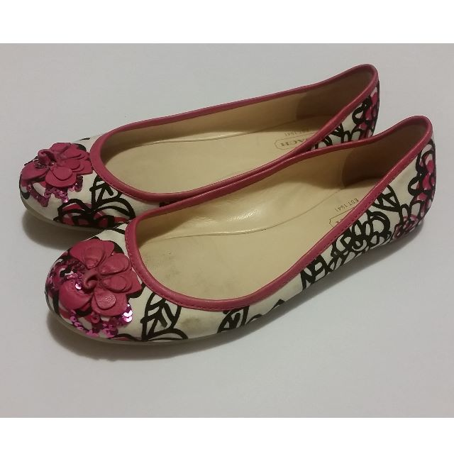 Coach Floral Graffiti ADESSA Ballet Flats Shoes Size 5.5