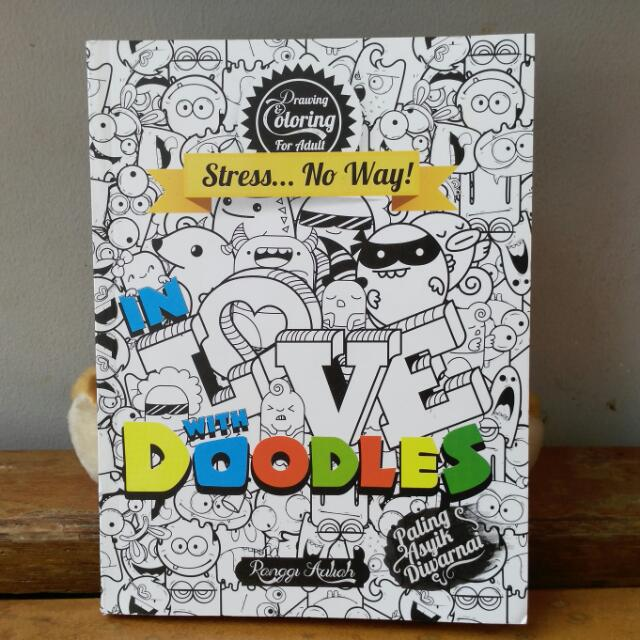 """Coloring Book """"In Love With Doodles"""""""