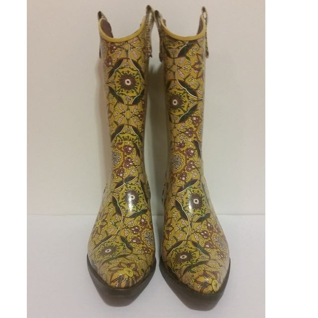(Reduced) Colourful Cowboy Style Rainboots by Tacco Footwear Women's Size 8.5 (39)
