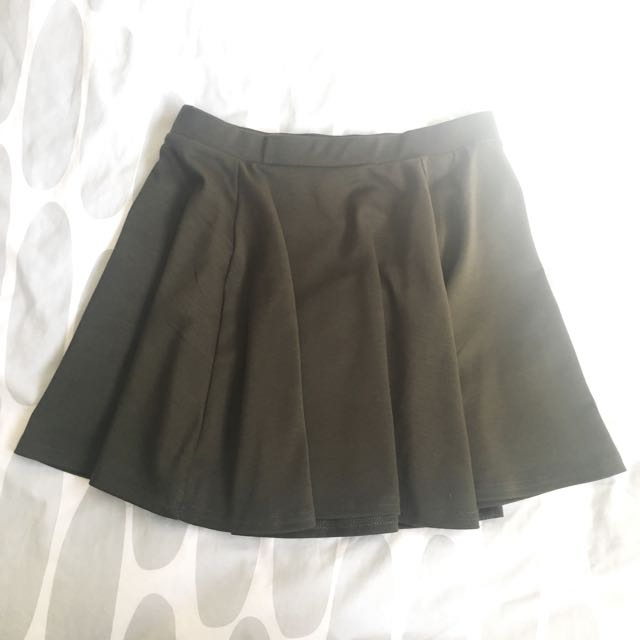 Cotton On Khaki Skater Skirt