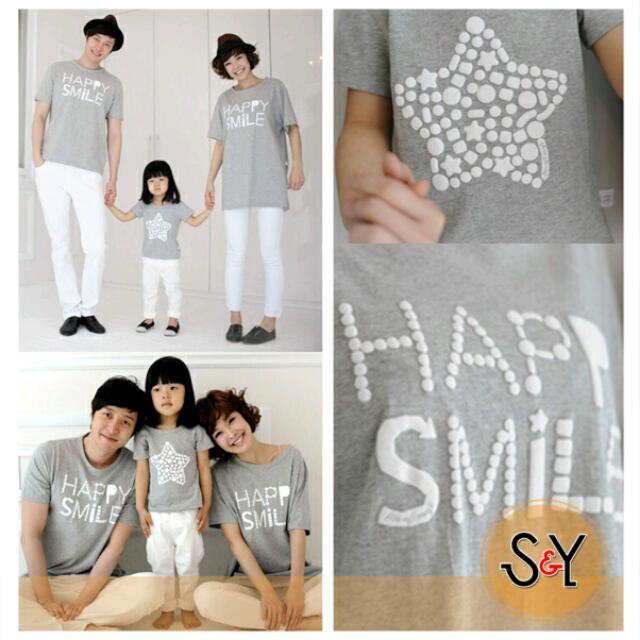 Couple Happy Family/happy Smile/kaos Samaan//