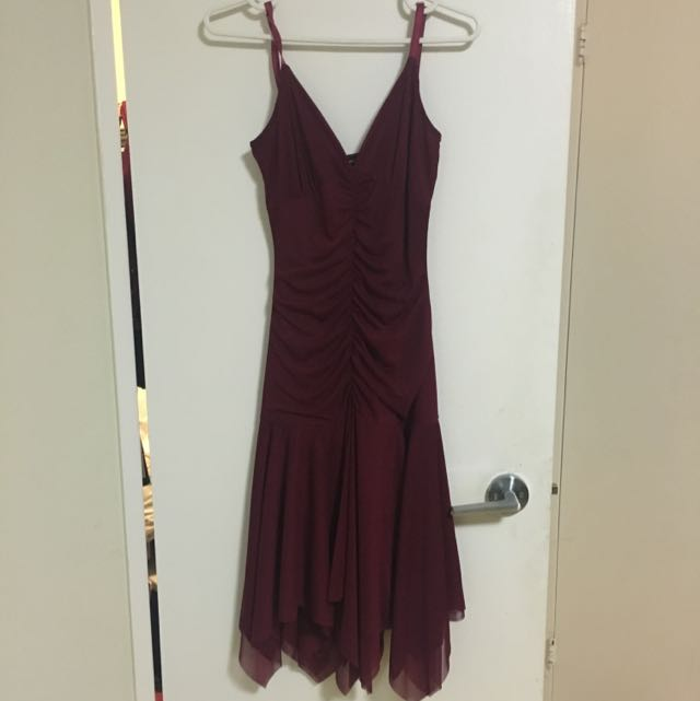 Dark Red Le Chateau Dress Size Small