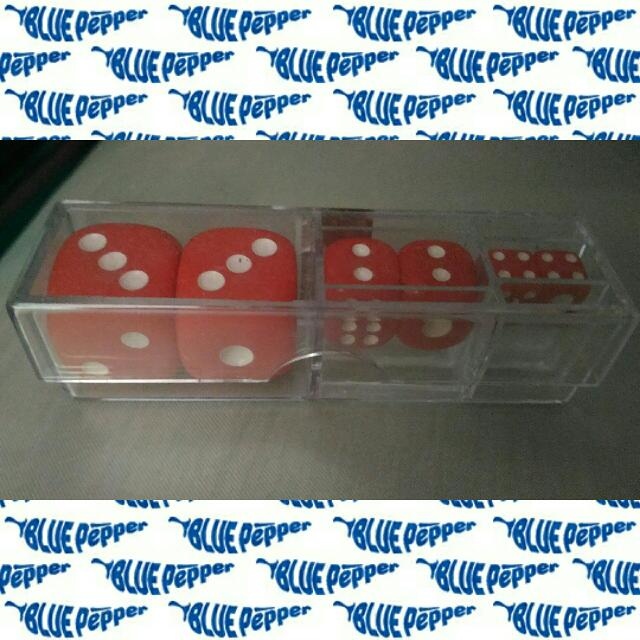 Dice 6-sided Set w/ Case (6pcs/case, assorted dice size) 🎲