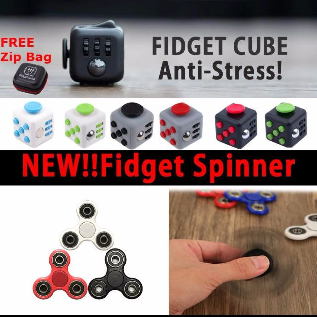 Fidget Cube Spinner Relieves Stress & Anxiety Attention Toy