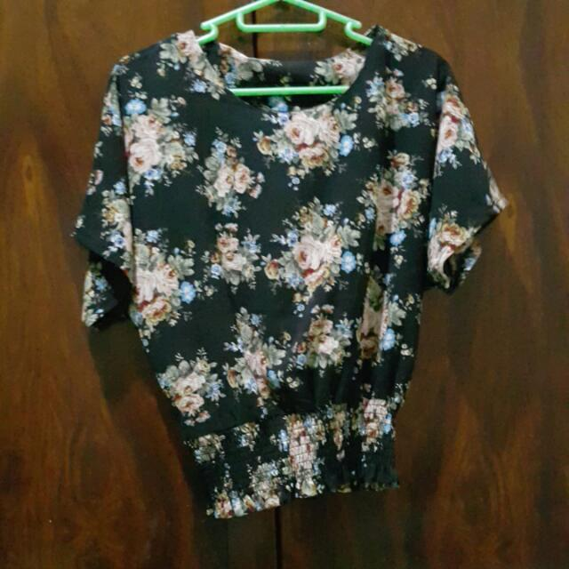 Floral Blouse(garterized)