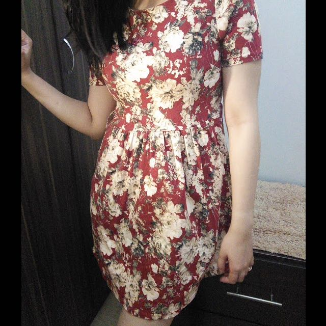 Floral Dress (Papaya by Hip Culture)