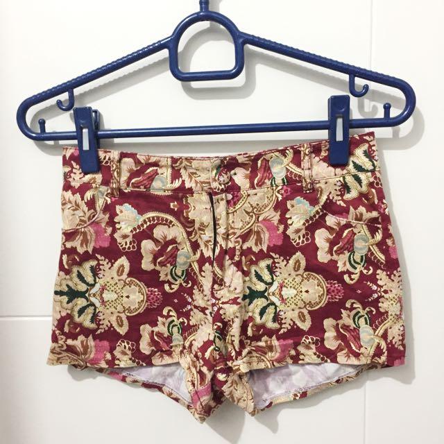 Floral Hot Pants
