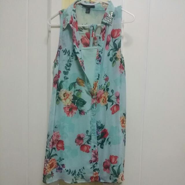 Forever 21 Sheer Floral Dress