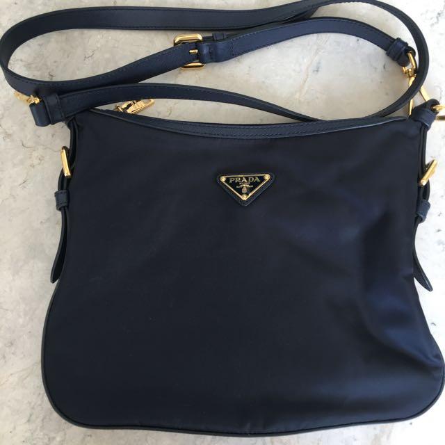 Genuine PRADA Tessuto + Saffiano Sling Bag BT0706