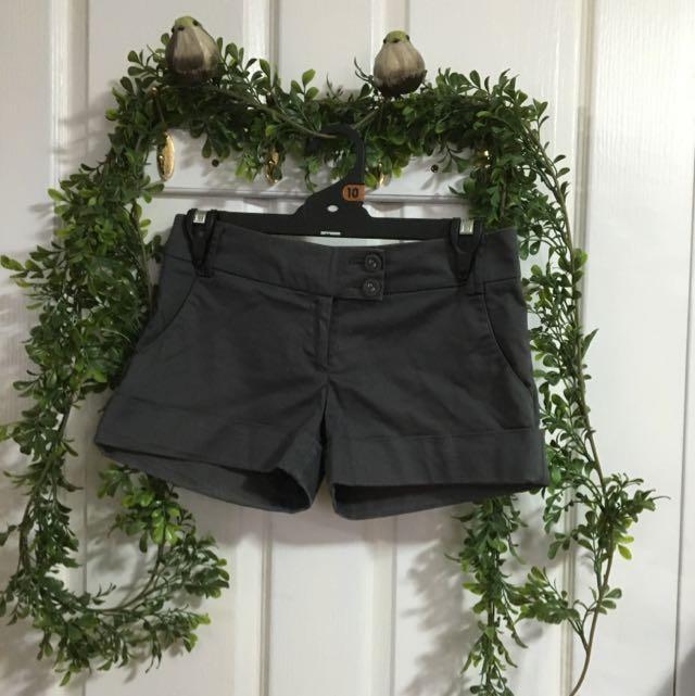 Glassons grey shorts size 6