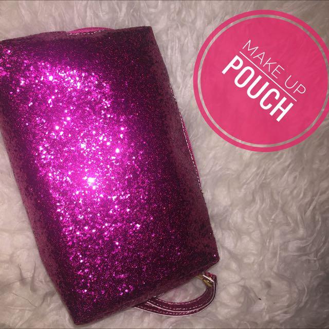 Glitter Makeup Pouch