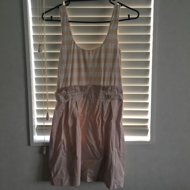 Gorgeous Forever New Striped Pink Dress