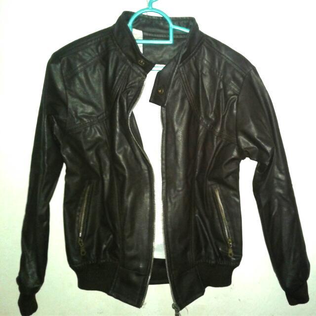 Jaket Leather Coklat