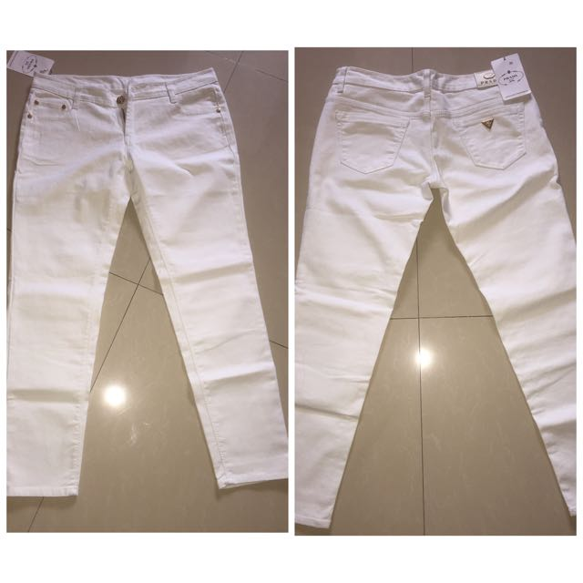 Jeans Putih Prada