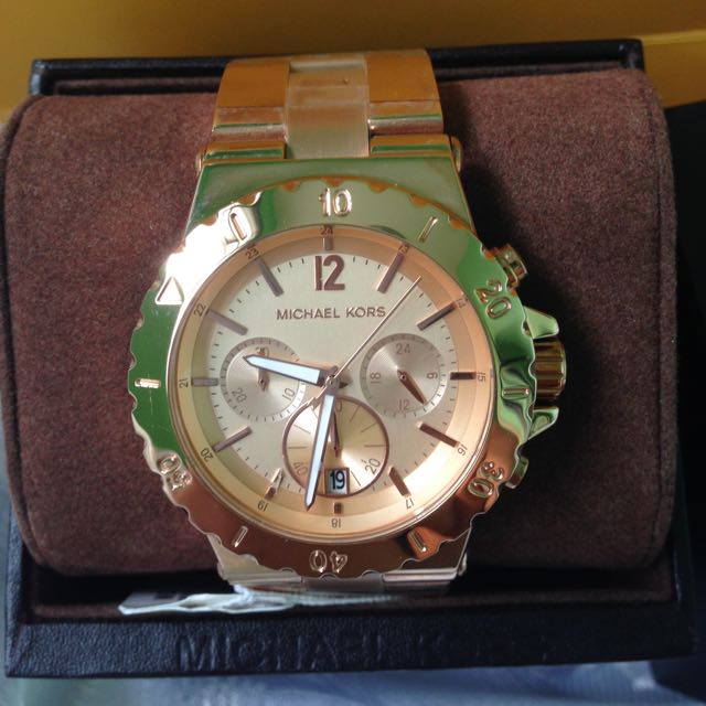 4e8114a0fb7 Michael Kors Rose Gold Tone Dylan Chronograph Mk5314