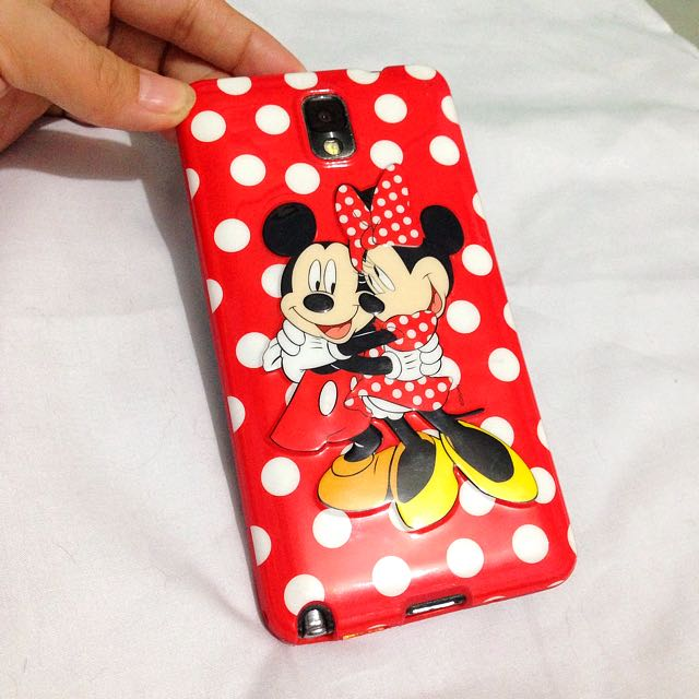 Mickey & Minnie Mouse case Note3