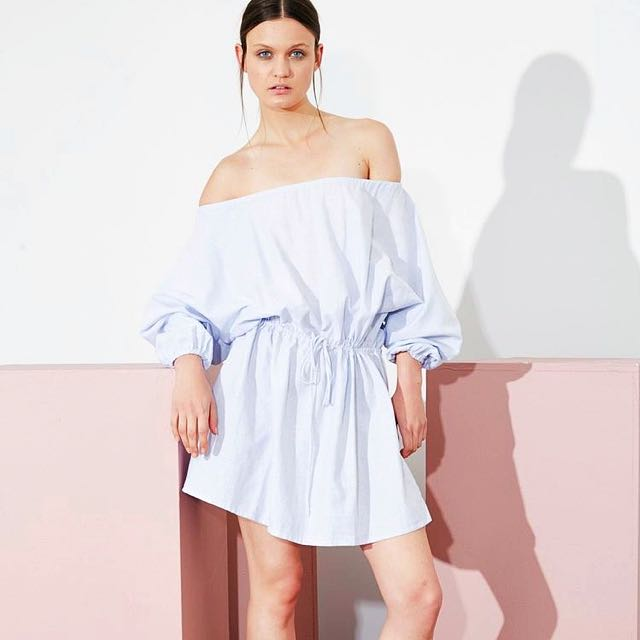 MLM Label Off The Shoulder Linen Dress