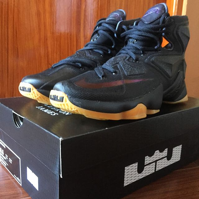 2f76b31182c ... low price nike lebron 13 black lion mens fashion footwear on carousell  ad61d fef44