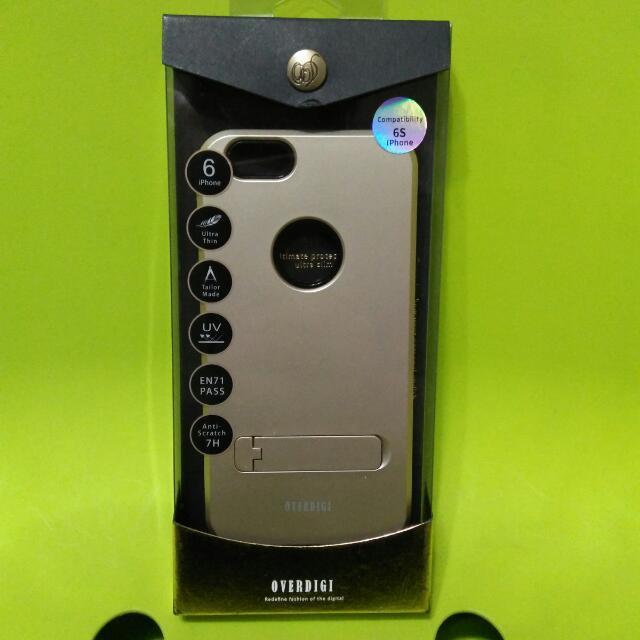OVERDIGI iPhone6S 可立式全包覆三合一防摔保護殼-雅緻金