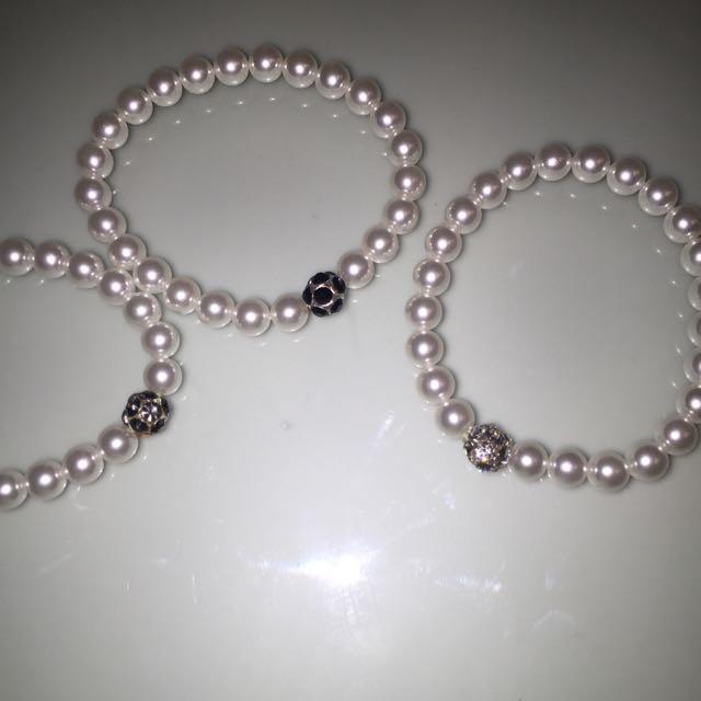 Pearl Bracelet Set
