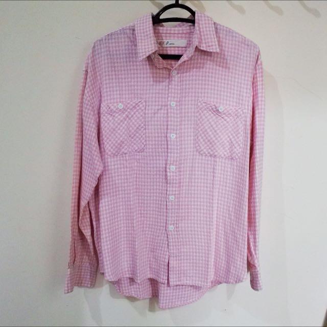 Pierre Kemeja Kotak Pink