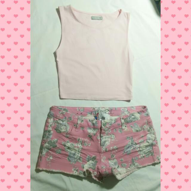 🔖Cute Pink Halter Crop Top