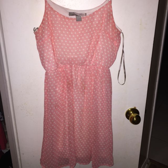 Forever 21 Pink Printed Dress