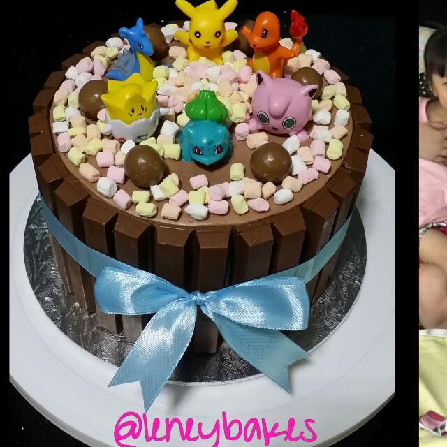 Pokemon Chocolate Birthday Cake Food Drinks Baked Goods On Carousell