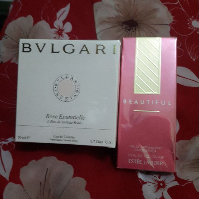 Rose Essentielle by Bulgari and Beautiful by Estee Lauder....(tester)
