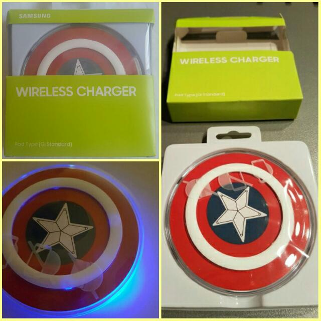 samsung galaxy wireless charger the avengers sheild