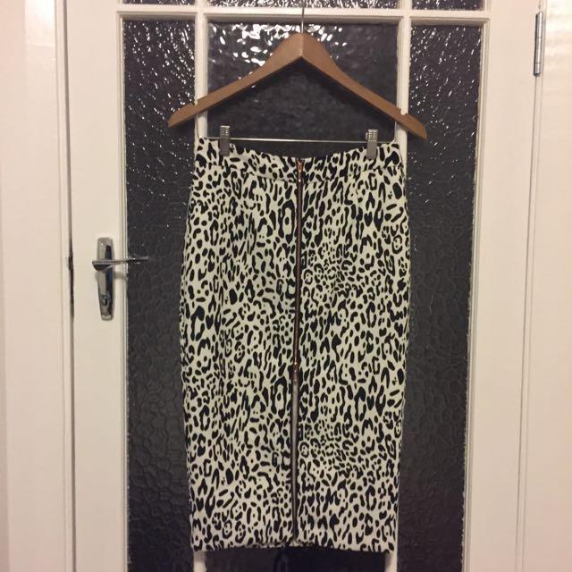 Sheike Leopard Print Skirt