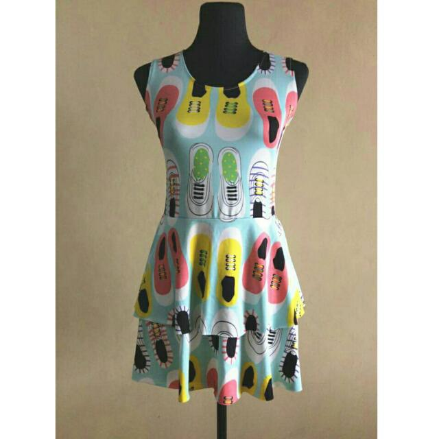 Sneaker printed dress