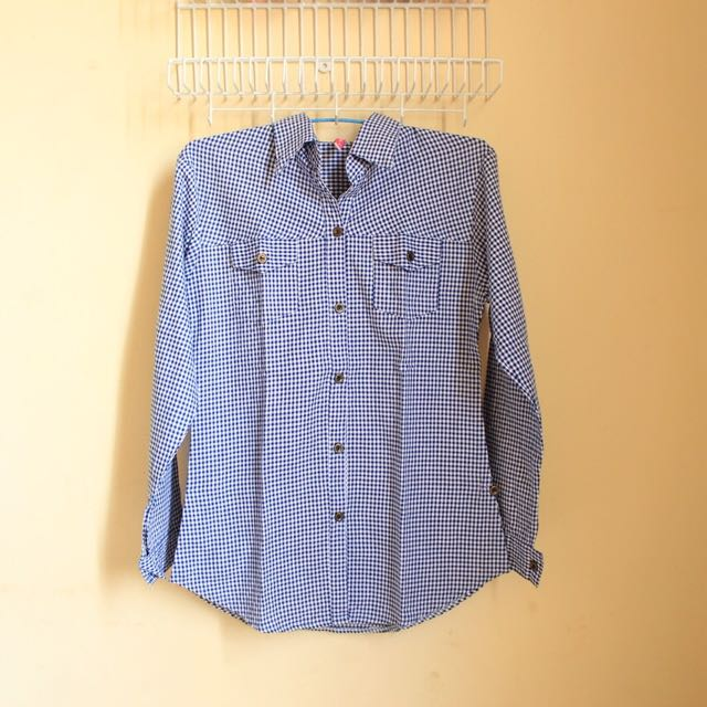 Squares Blue Shirt