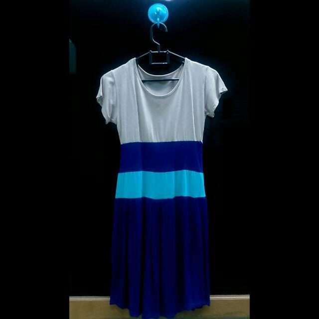 Three Tone Bodycon Dress