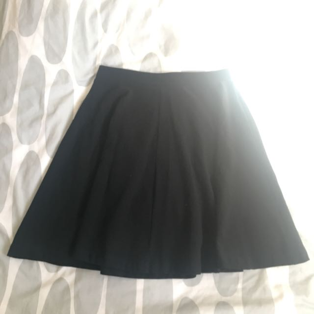 Topshop Black Skater Skirt