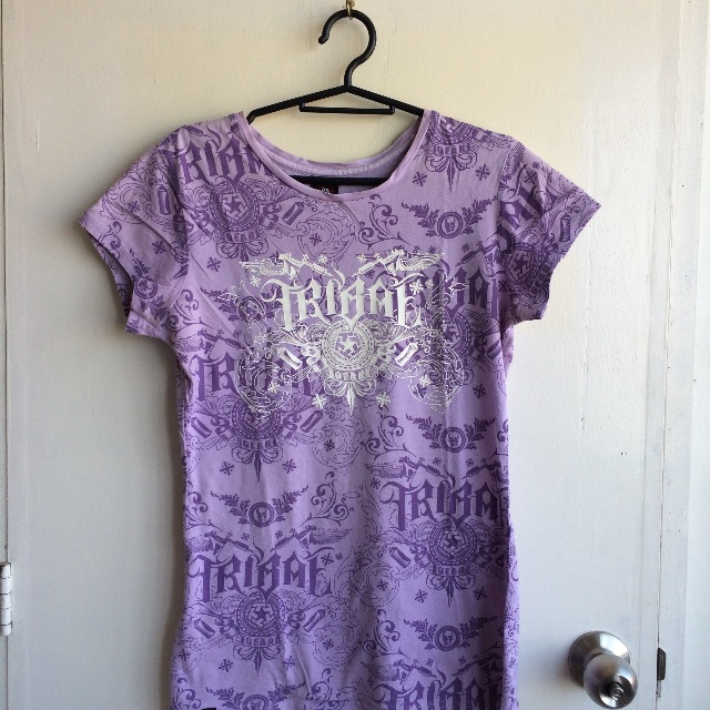 Tribal purple shirt