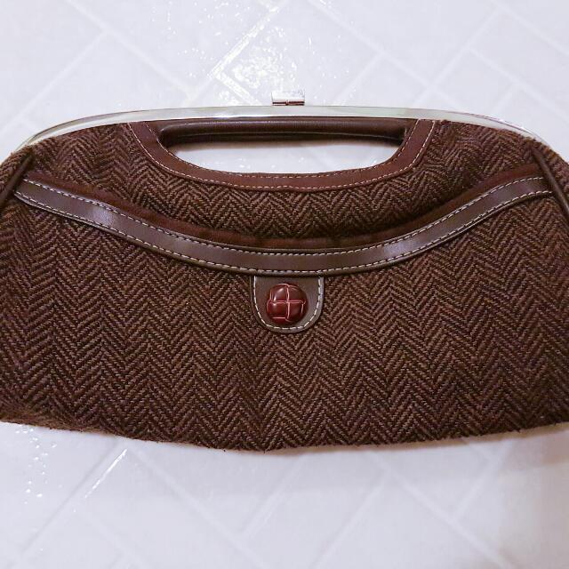 Vintage Brown Clutch