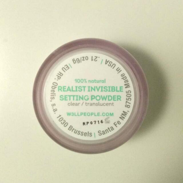 W3LL PEOPLE natural invisible setting powder