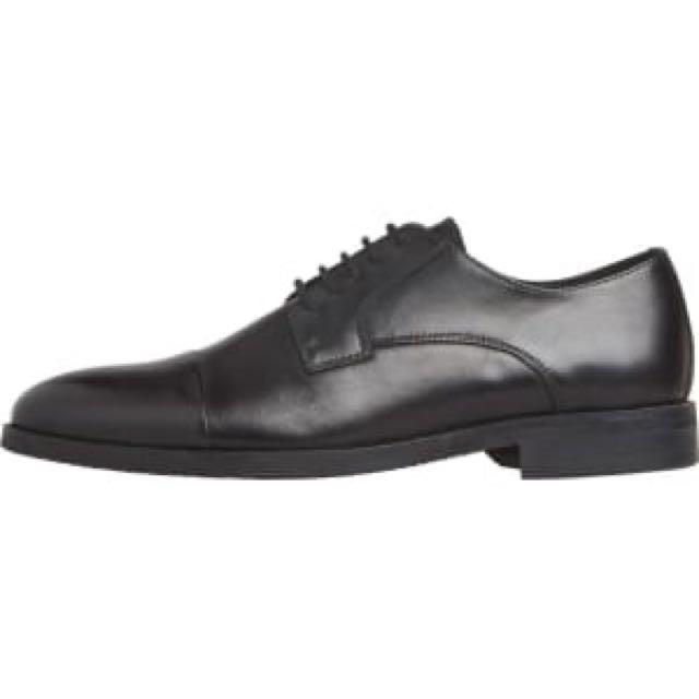 Windsor Smith Black Leather Oxford BNWB Size UK11