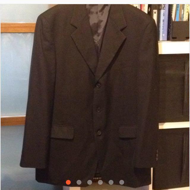 黑色羊毛西裝外套XL