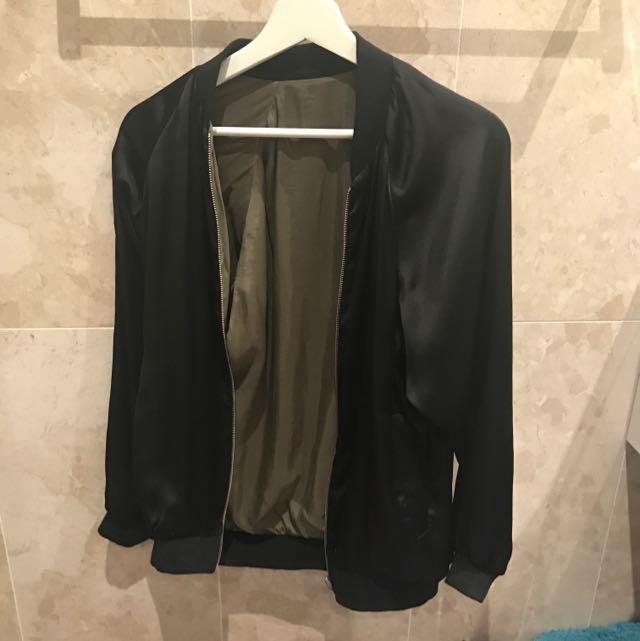 Zara Over Sized Reversible Bomber Jacket