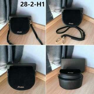 CHARLES&KEITH sling bag 3 color: white black, brown, black Size: 15CM x10CM x15CM