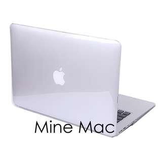 Mine Mac Matte Case Macbook Air 13 inch with Cut Out (Logo Berlubang) - Transparant