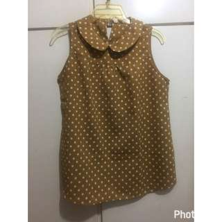 Mustard Yellow Polka-dot Top